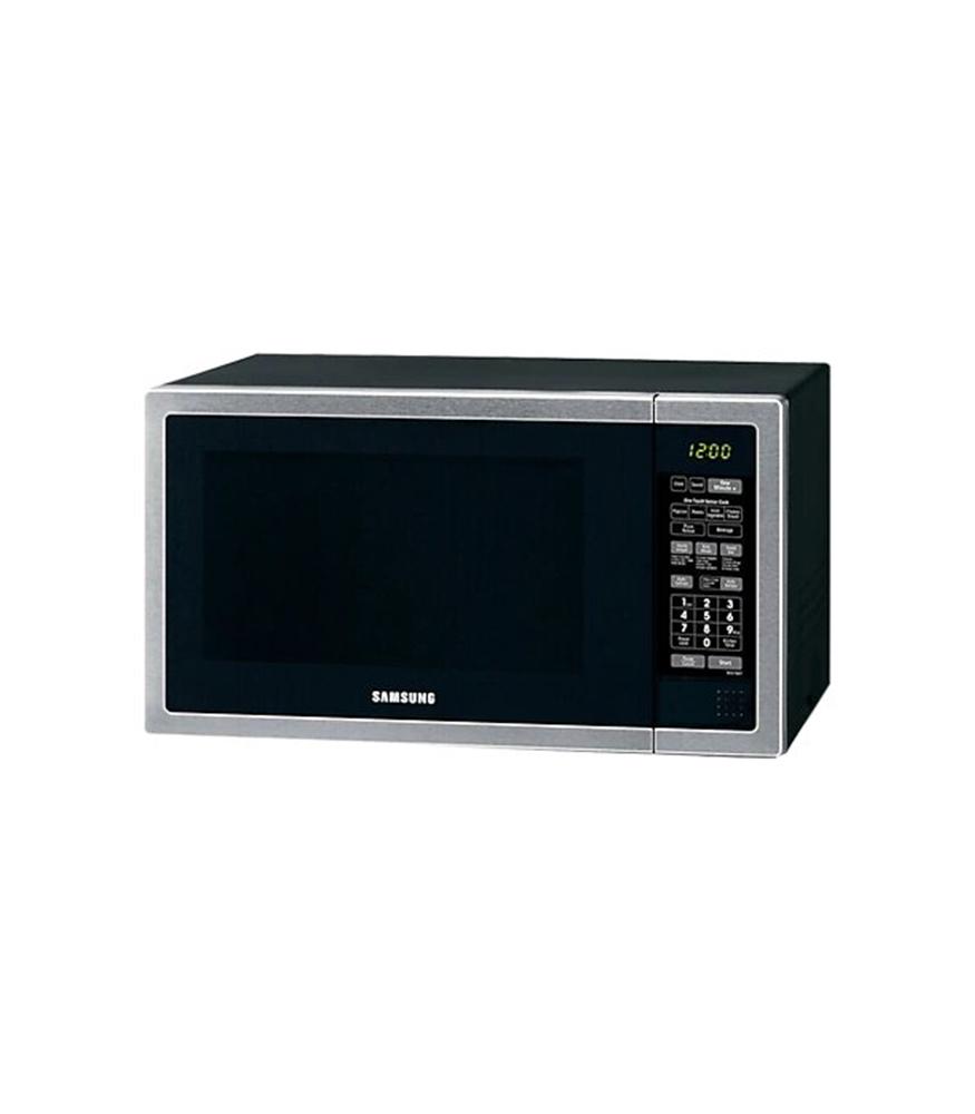 SAMSUNG 55L 1000 Watt Solo Microwave - Stainless Steel Front & Black Body