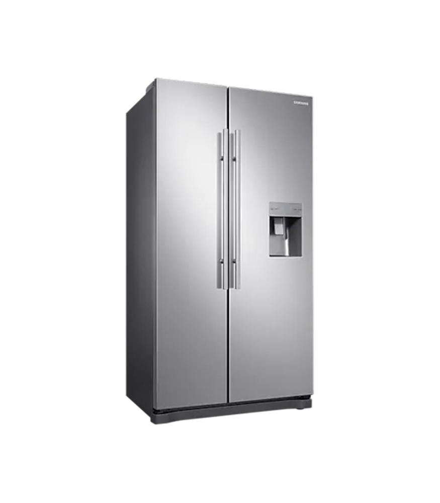 SAMSUNG 520L Nett Frost Free Side by Side Fridge with Non Plumbed Water Dispenser - Elegant Inox