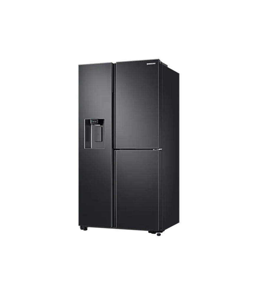SAMSUNG 602L Net 3 Door Frost Free Side by Side Fridge with Plumbed Water & Ice Dispenser - Gentle Black