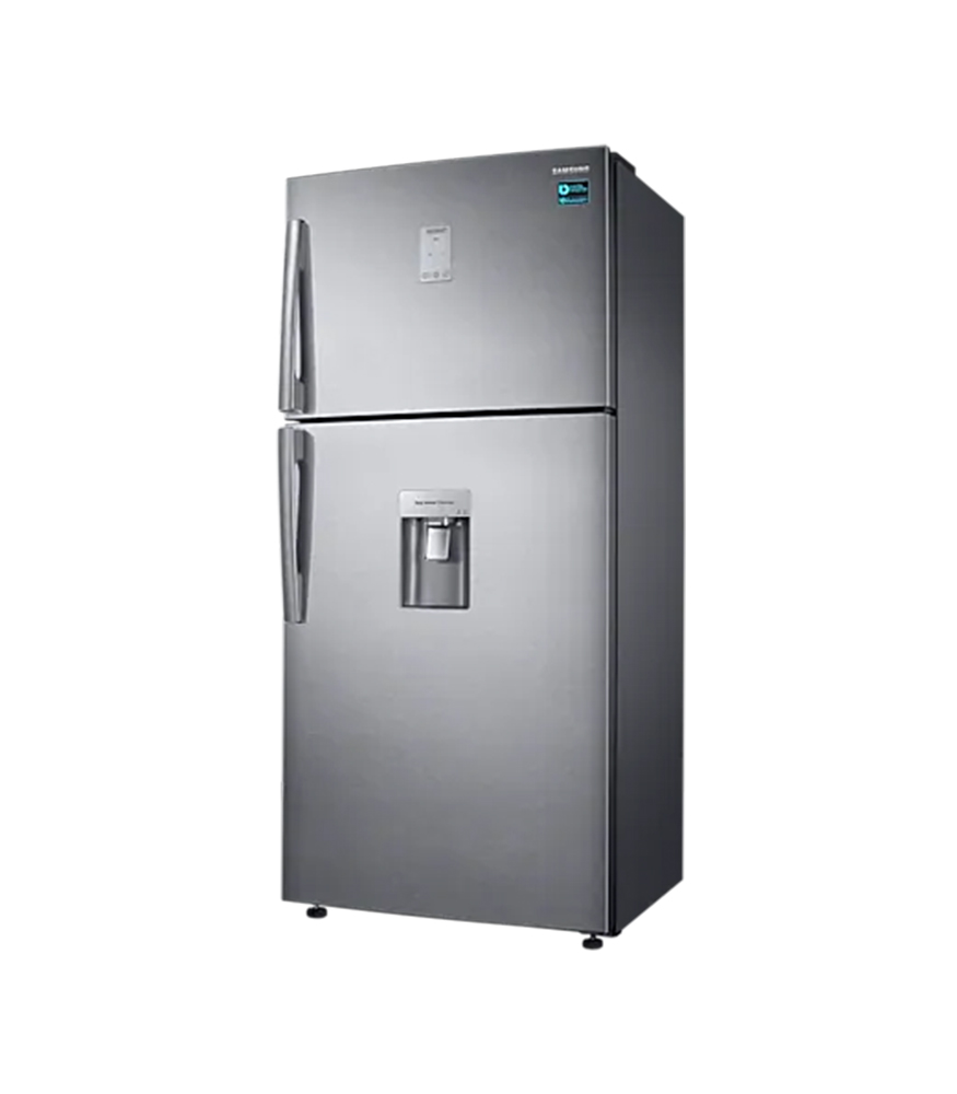 SAMSUNG 514L Frost Free Top Freezer Bottom Fridge Combination Fridge With Water Dispenser - Silver