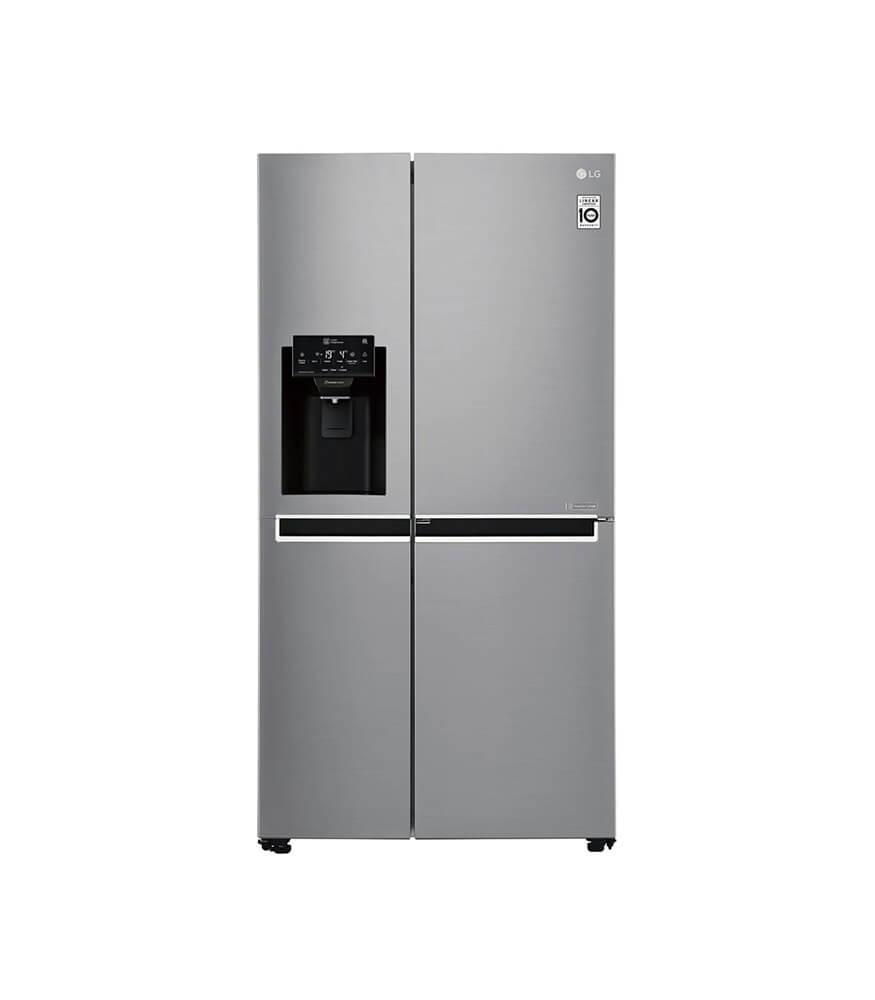 LG - 601L Platinum Silver Side by Side Refrigerator Door-In-Door Plumbed - GC-J247SLUV