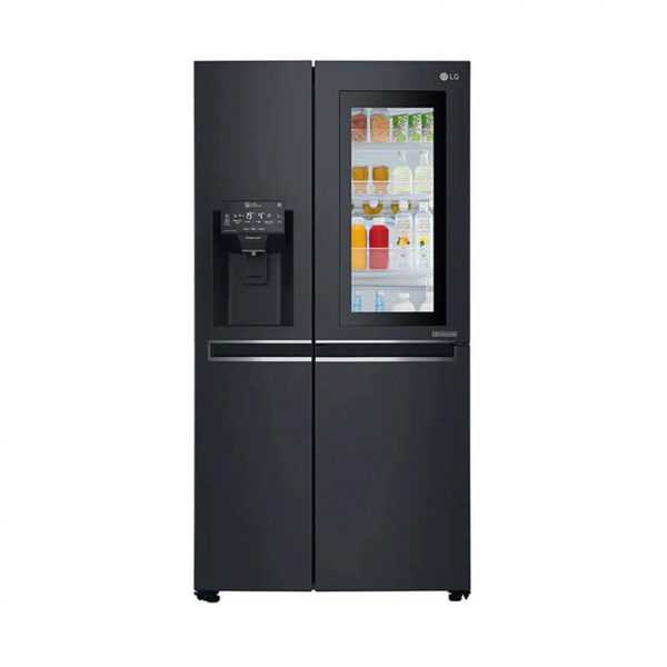 LG - 665L Side by Side Fridge with InstaView Door-In-Door® in Matte Black Finish - GC-X247CQBV