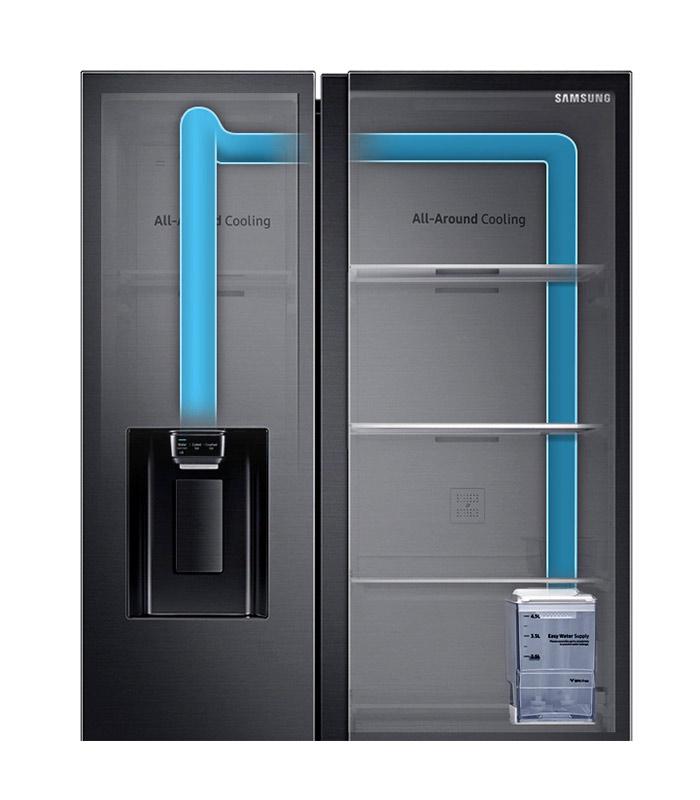 SAMSUNG - Side by Side Refrigerator, 617L - RS64R53112A